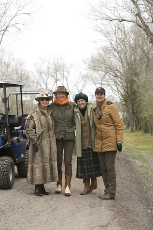 Gaye Kelsey, from left, Lisa Miller, Rebecca Parsons and Lyndell Baily at The Fine Art of Shooting March 2015