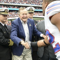 Chris Baldwin, Houston Texans vs. Bills, patriotism, November 2012, George Bush shaking hand