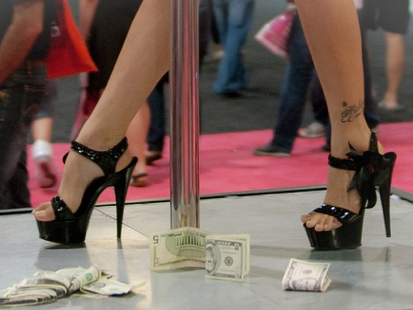 stripper, money, tips, cash