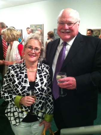 Texas Music Festival, opening reception, June 2012, Lucie Robert, David Ashley White