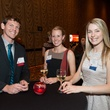 8 Ryan Beeler, from left, Devan Courtois and Kenzie Massey at the Teach for America event November 2014