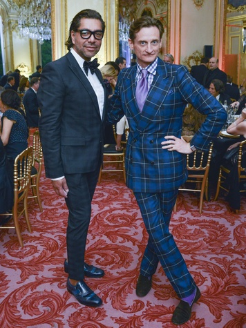 Ceron and Hamish Bowles at Luxembourg Palace dinner