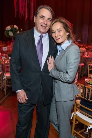 Mark Wawro and Melanie Gray at the SPA luncheon with Lauren Bush Lauren October 2014