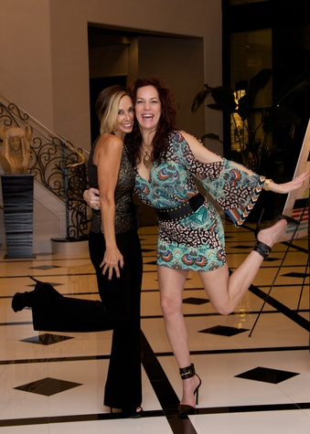 Laura Cook and Sandra Winters at Theresa Roemer first charity closet party November 2014