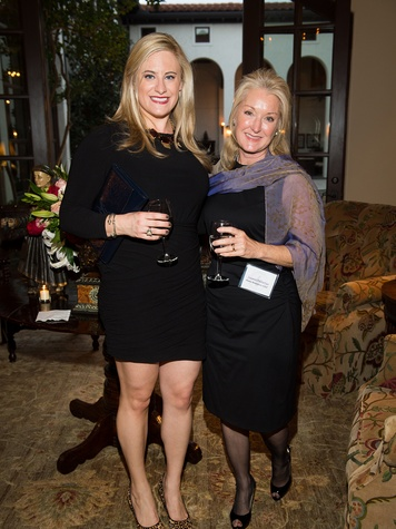 Alexis Caruselle, left, and Susan Pelletier at the Pin Oak Charity Horse Show kick-off February 2014