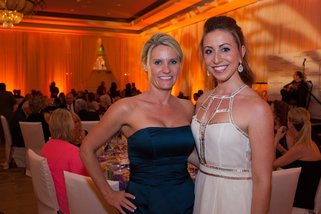 Shannon League, left, and Haley Peck at the Sugar Land Wine and Food Affair April 2015