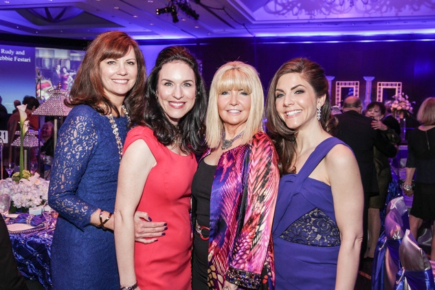 1 Angie Roberts, from left, Samantha Kennedy, Pam Lockard and Monica Blaisdell at the Social Book Treasures dinner December 2014
