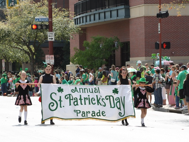 St. Patrick's Day Parade Houston, March 2013, banner