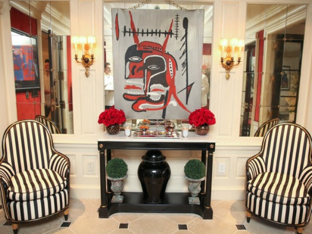 Dee Ocleppo and Tommy Hilfiger Plaza apartment foyer