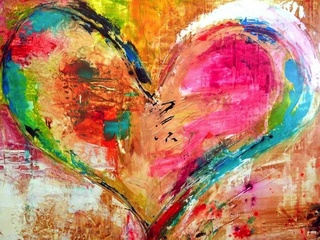 Painting love at GeeBerry Art Studio