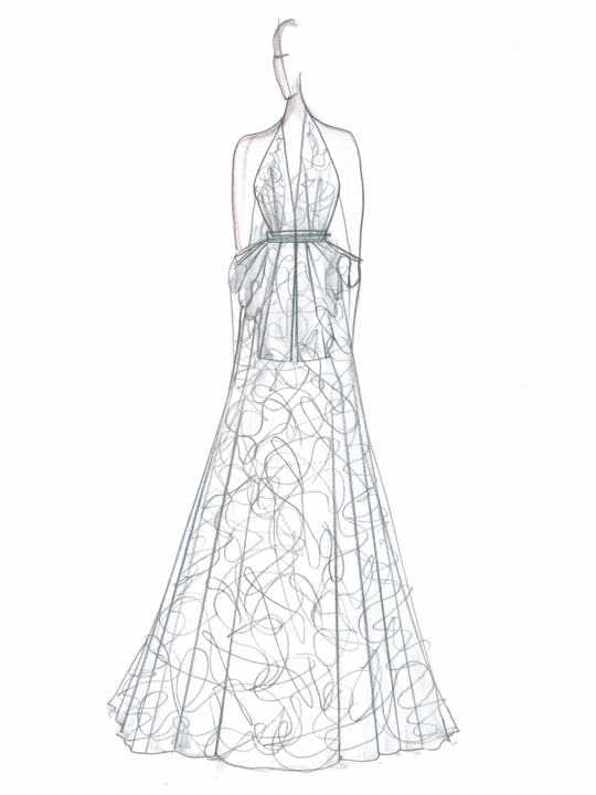 Fashion Week fall 2013, sketches, January 2013, Cesar Galindo Collection