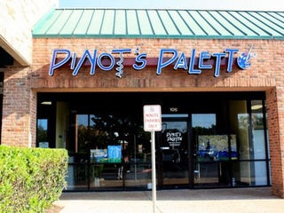 Pinot's Palette located on South Lamar in Austin, TX.