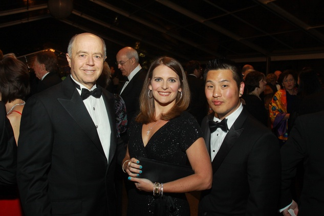 182 Doug Perley, left, with Erin and Paul Yoon at the Baker Institute 20th Anniversary Gala November 2013