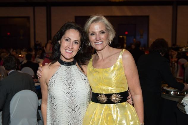 0411 Sheri Gross, left, and Beth Tilney at the Cristo Rey Jesuit Gala January 2015