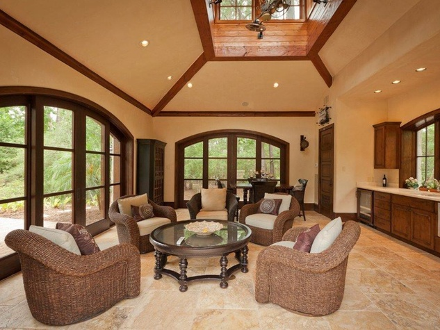 On the Market 15 Grand Regency Circle Enron mansion The Woodlands January 2015 sunroom