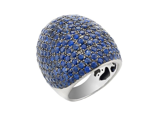 Deville Fine Jewelry, Christina Aguilera, September 2012, Silver blue sapphire ring, 900