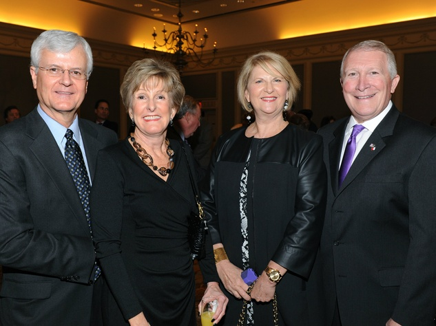 David Jacobs, Cher Jacobs, Becky Powell, Scott Wilson, board chair, the senior source