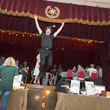 "2341 Christian Holmes as 'Dirty Dancing's"" Patrick Swayze mid-leap at Camp Catastrophic May 2014"