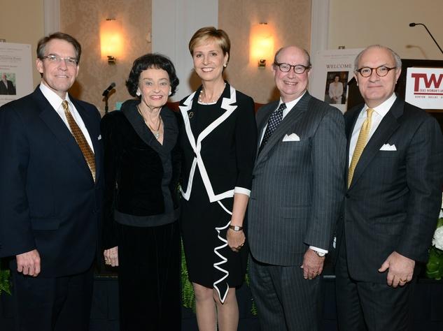 Norm Bagwell, Virginia Chandler Dykes, Dr. Carine M. Feyten, Bob White