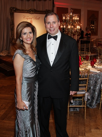 Mehrnaz and Ned Gill at the Huffington Center on Aging Gala November 2013
