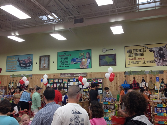 Trader Joe's Rollingwood Austin checkout lanes