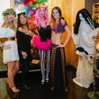 13 Lindsay Hornsby, from left, Emmy Carmona, Jessica West and Melanie Kramer at the CultureMap Halloween party at Mr. Peeples October 2013