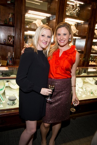 38-1 Erin Ivy, left, and Alexis Caruselle at the Valobra Pin Oak holiday party December 2014