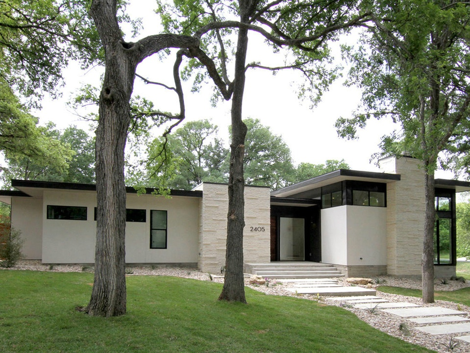 2016 Austin Modern Home Tour house 2405 Rockingham Circle Steve Zagorski Architect front