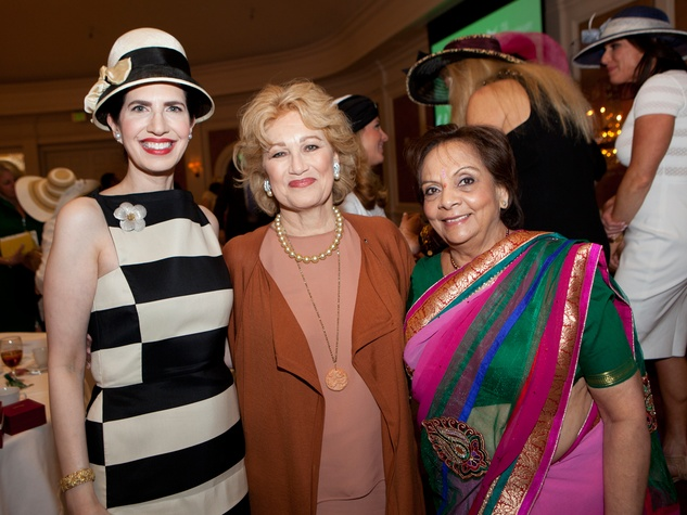 Dr. Kelli Cohen Fein, from left, Mary Kickerillo and Leela Krishnamurthy at Hats Off to Mothers March 2014