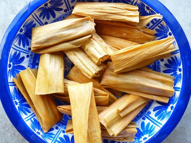 Sylvia's Enchilada Kitchen tamales on plate