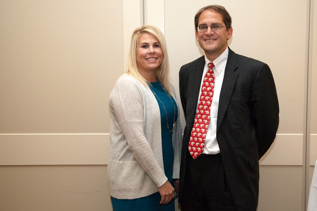 7 Cortney Cole and David Howard at the Urban Land Institute Houston mixer October 2014