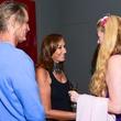 Donna Karan meets guests at Urban Zen party