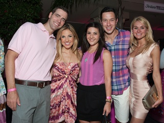 028_Party in Pink, Hotel ZaZa, July 2012, Chris Wadley, Katherine Whaley, Jenna Beth Whaley, Michael Silva, Ashley Foret