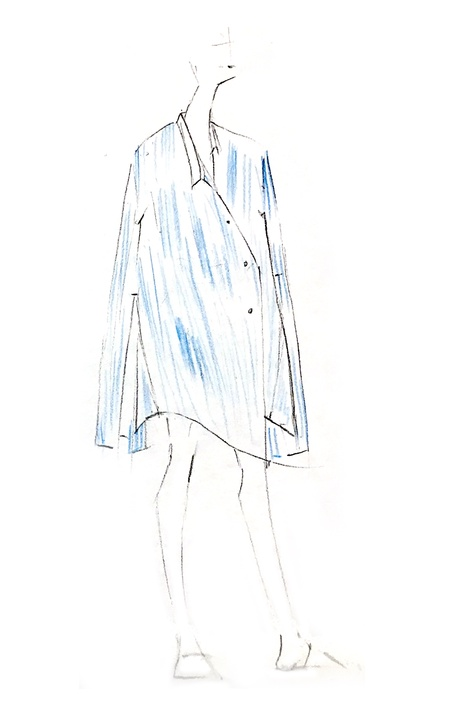 Ji Oh designer inspiration sketch fall 2017