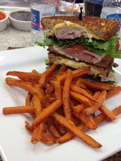 Club sandwich at Lantern St. in Plano