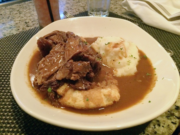 Pappas Meat Co. November 2014 beef, mash potatoes and gravy