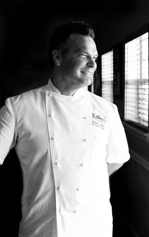 Ronnie Killen, Killen's Steakhouse, chef, black and white