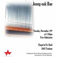 Monaghan Organ Recital featuring Jeong-suk Bae