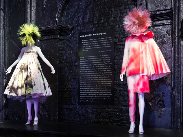 Punk Fashion at The Met May 2013 The Met shows off Alexander McQueen's spray-painted ensembles