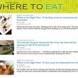 Where To Eat landing page