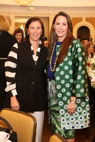 10 Frances Lovely Alexander, left, and Liz Glanville at the The Center Luncheon February 2015