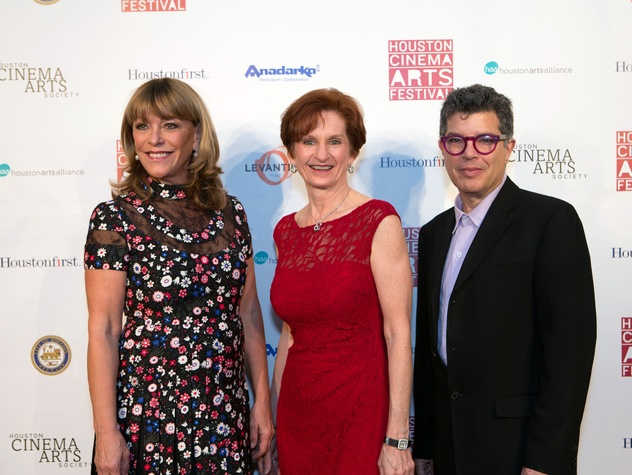 Houston, Cinema Arts Fest opening night, November 2015, Franci Neely, Trish Rigdon, Richard Herskowitz
