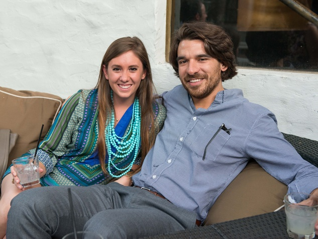 21 Ellen Gaines and Chris Maraldo at the CultureMap Summer Social July 2014