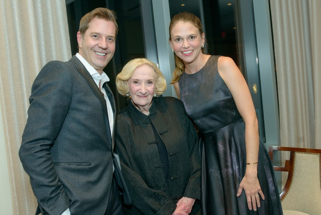 Steven Reineke, from left, Sybil Roos and Sutton Foster at the Houston Symphony POPS Event with Steven Reineke & Sutton Foster February 2015