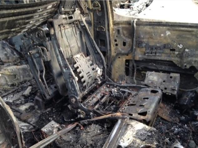1 Tom Peacock Cadillac crash and fire May 2014