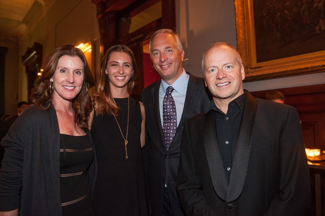 Phoebe Tudor, from left, Margaret Tudor, Bobby Tudor and Patrick Summers HGO The Passenger party in NYC July 2014.