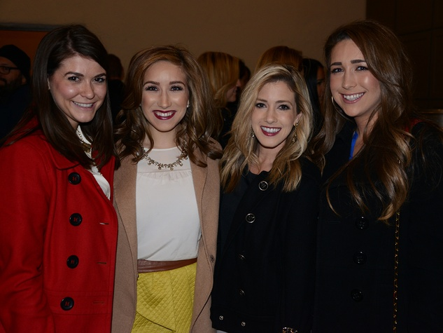 Julia Wood, from left, Meagan Killion, Jessica Sanbery and Kristen Killian at the Hermann Park Conservancy's Urban Green event November 2014