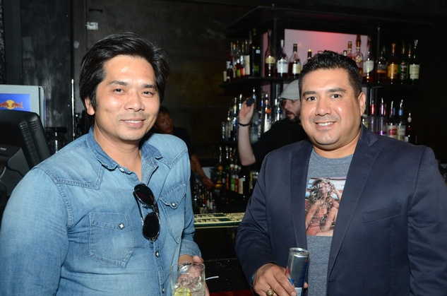 Tammy Nguyen, left, and Chris Cardenas at the Don Vaughn CD Launch Party August 2014