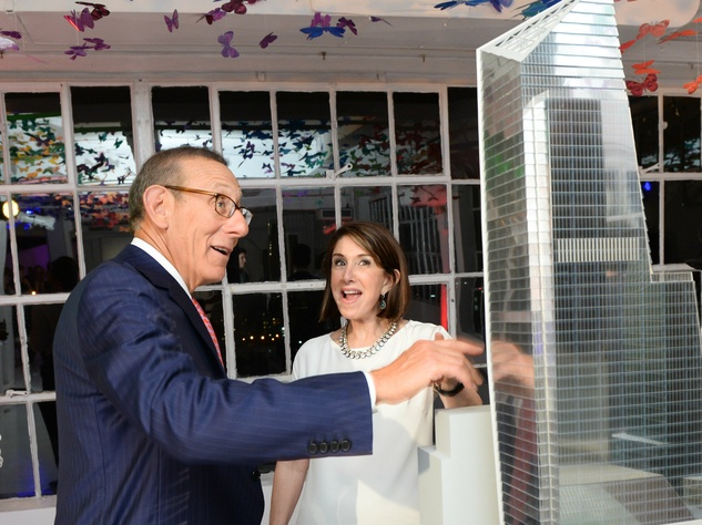 Karen Katz and Stephen Ross at Neiman Marcus party