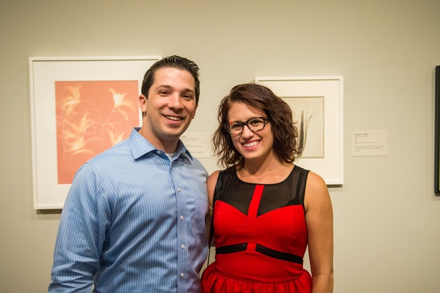 1 Albert Singer and Victoria Grinbaum at the MFAH Art Crowd party September 2014